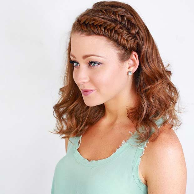 Free 17 Chic Braided Hairstyles For Medium Length Hair Stayglam Wallpaper