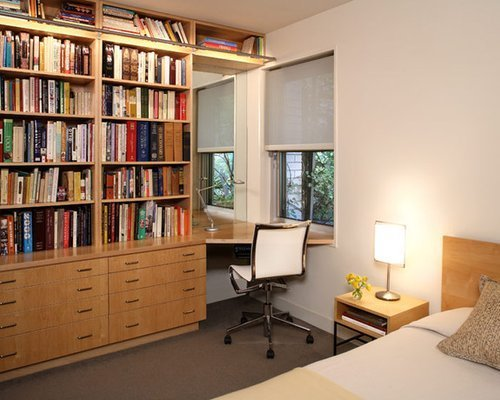 Best Small Bedroom With Desk Houzz With Pictures