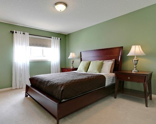 Best Medium Sized Green Bedroom Design Ideas Renovations Photos With Pictures