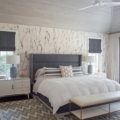 Best Master Bedroom Wallpaper Ideas Houzz With Pictures