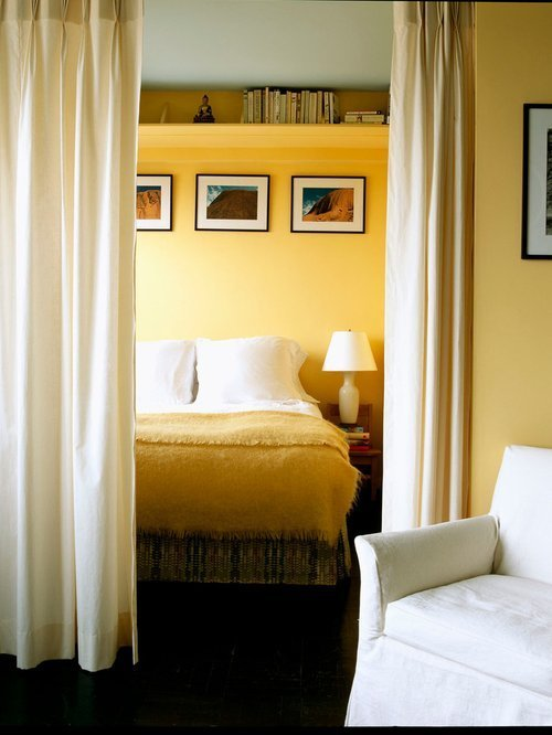 Best Yellow Walls With Curtains Houzz With Pictures