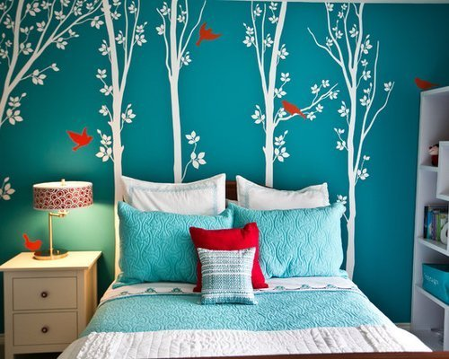 Best Turquoise Girls Bedroom Houzz With Pictures