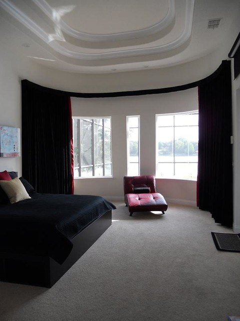 Best Bay Window Bendable Curtain Rod With Valance Modern Bedroom Indianapolis By Abda Custom With Pictures