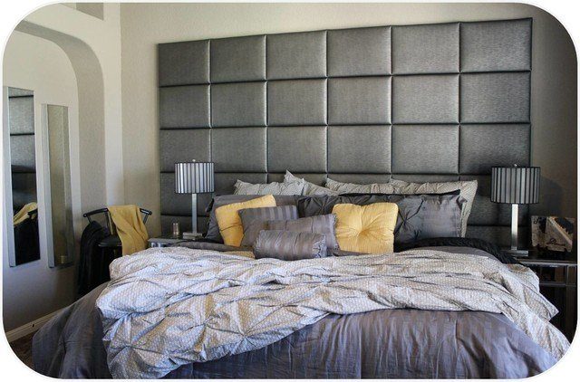 Best Wall Of Upholstered Panels Contemporary Bedroom Chicago By Heady Bed With Pictures