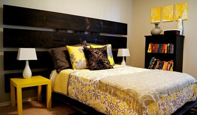 Best Yellow And Gray Bedroom Modern Bedroom Oklahoma City With Pictures