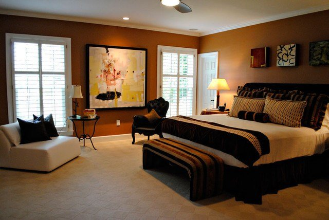 Best Bedroom Cream Brown Rust And Black With Pictures