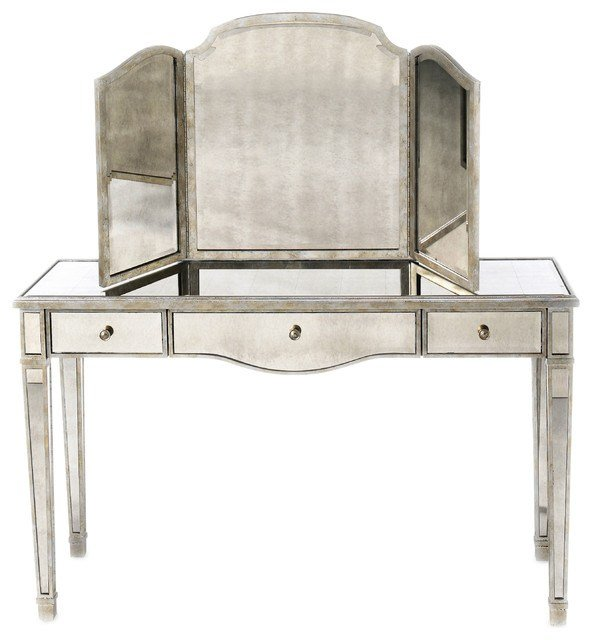 Best Lillian August Rosedale Mirrored Vanity La81551 01 With Pictures
