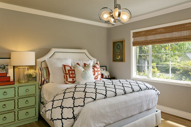 Best Contemporary Transitional Eclectic Guest Room Office With Pictures