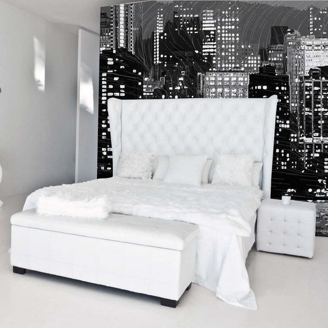 Best New York Skyline Modern Bedroom Other By Studio With Pictures