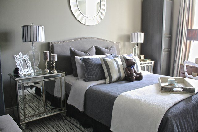 Best Fifty Shades Of Grey Transitional Bedroom Toronto By Nicholas Rosaci Interiors With Pictures