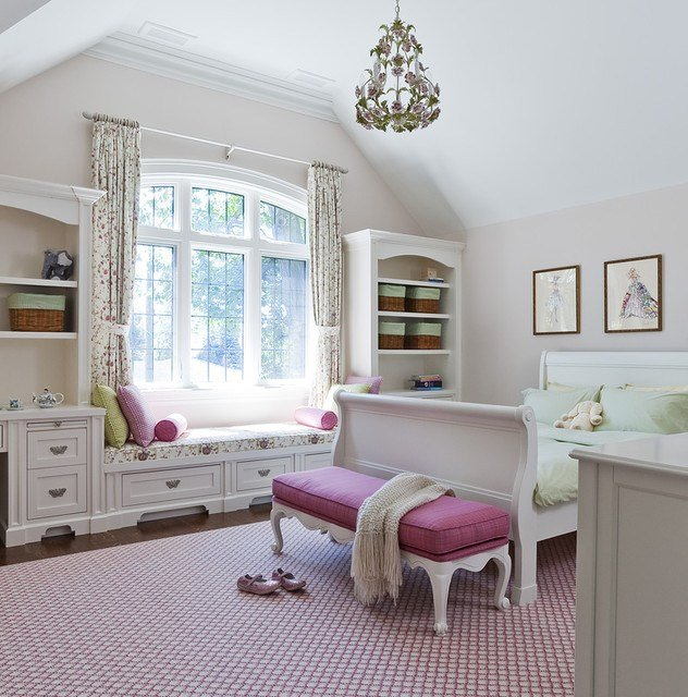 Best Jill Greaves Design Girl S Bedroom With Window Seat With Pictures