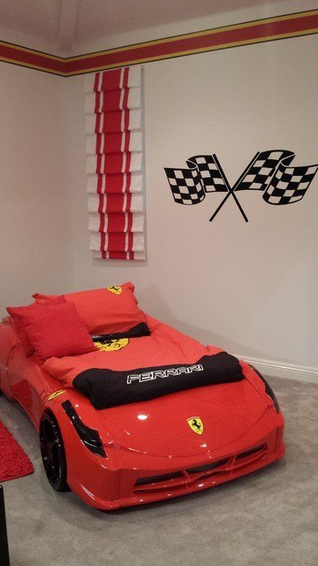 Best Ferrari Race Car Bedroom Transitional Kids Los Angeles With Pictures