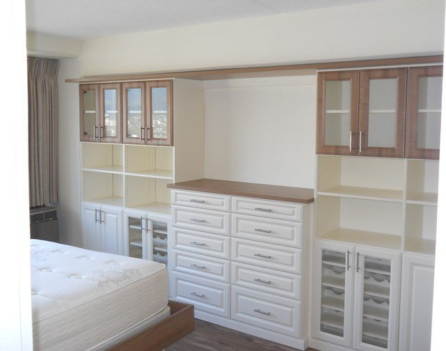 Best Kapiolani Condo Platform Bed Wall Unit Traditional With Pictures