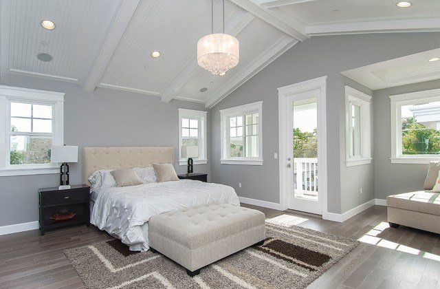 Best Drum Shade Crystal Chandelier In Transitional Bedroom With Pictures