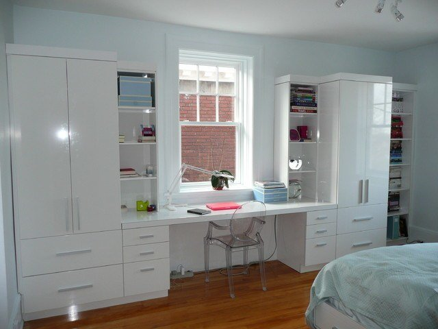 Best Desk Wall Unit Contemporary Bedroom Montreal By With Pictures