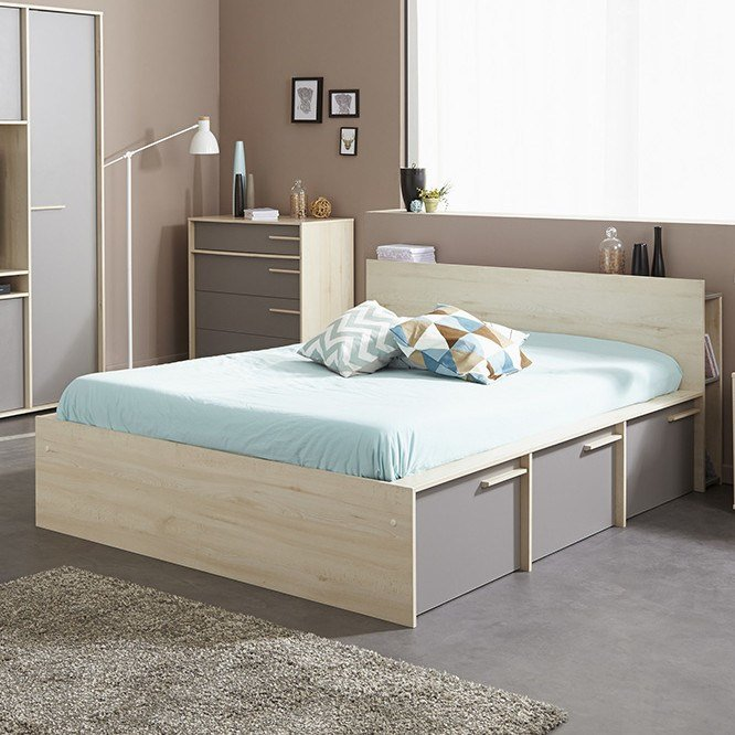 Best Parisot Connect Full Double Storage Platform Bed Wayfair With Pictures