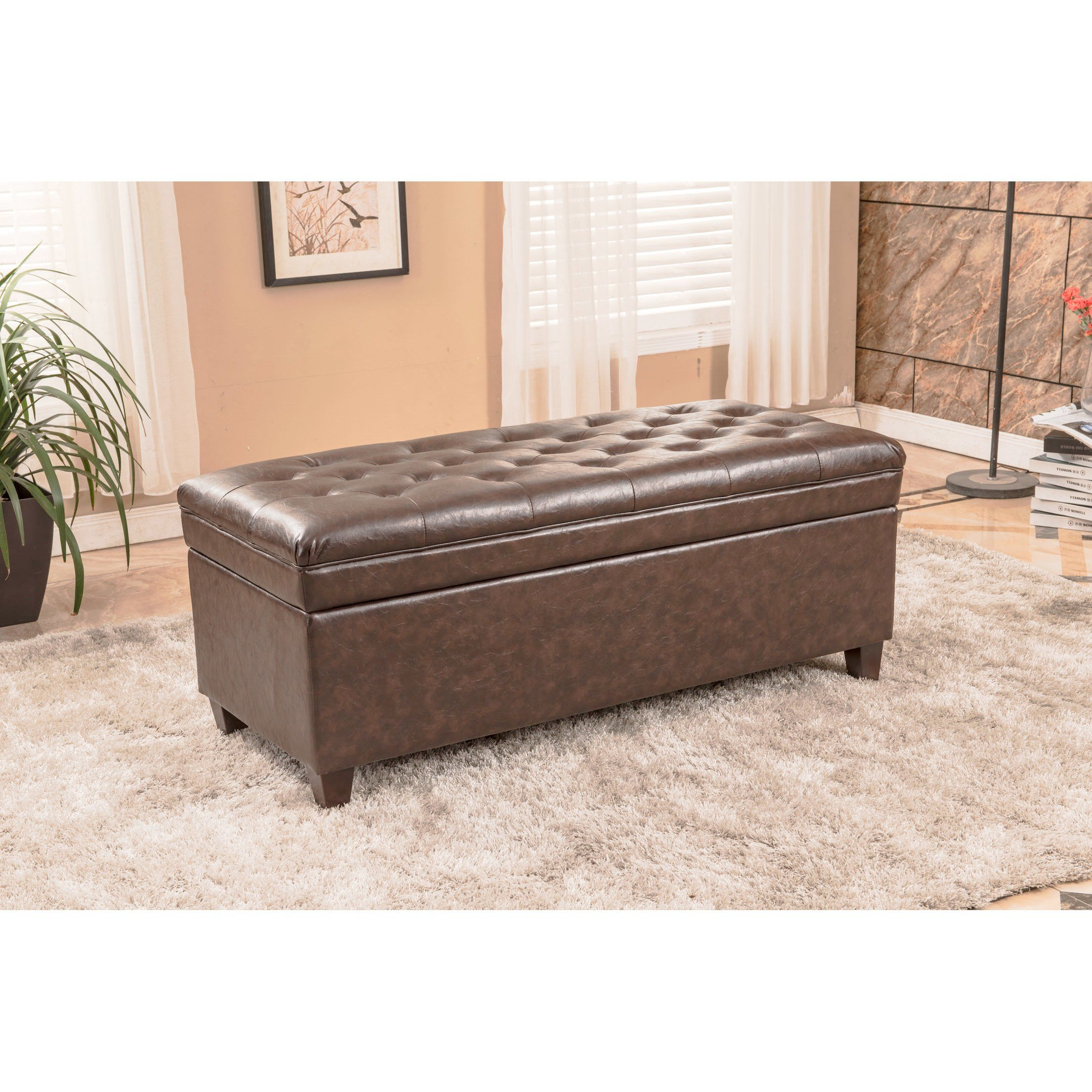 Best Bellasario Collection Upholstered Storage Bedroom Bench With Pictures
