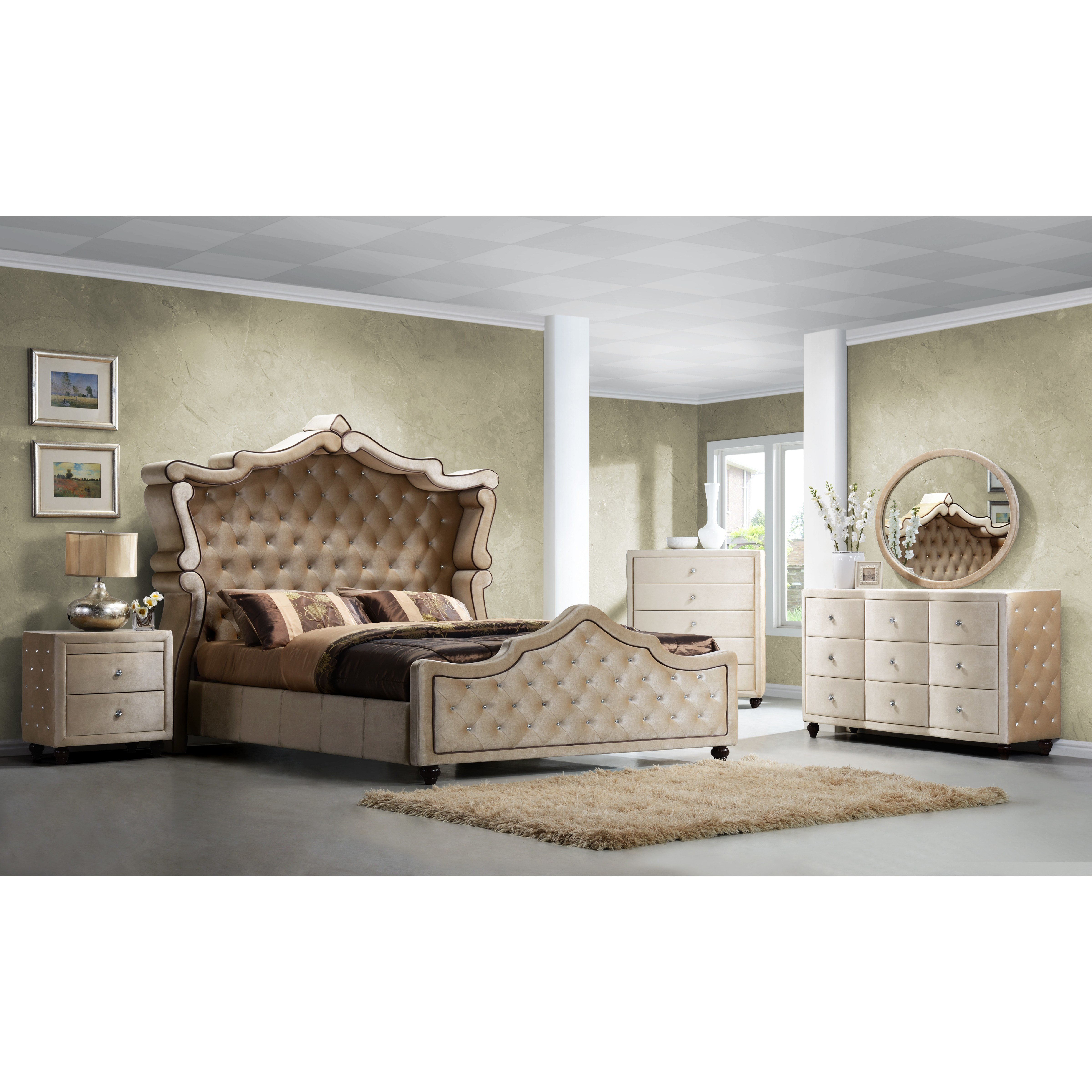 Best Meridian Furniture Usa Diamond Panel Customizable Bedroom With Pictures