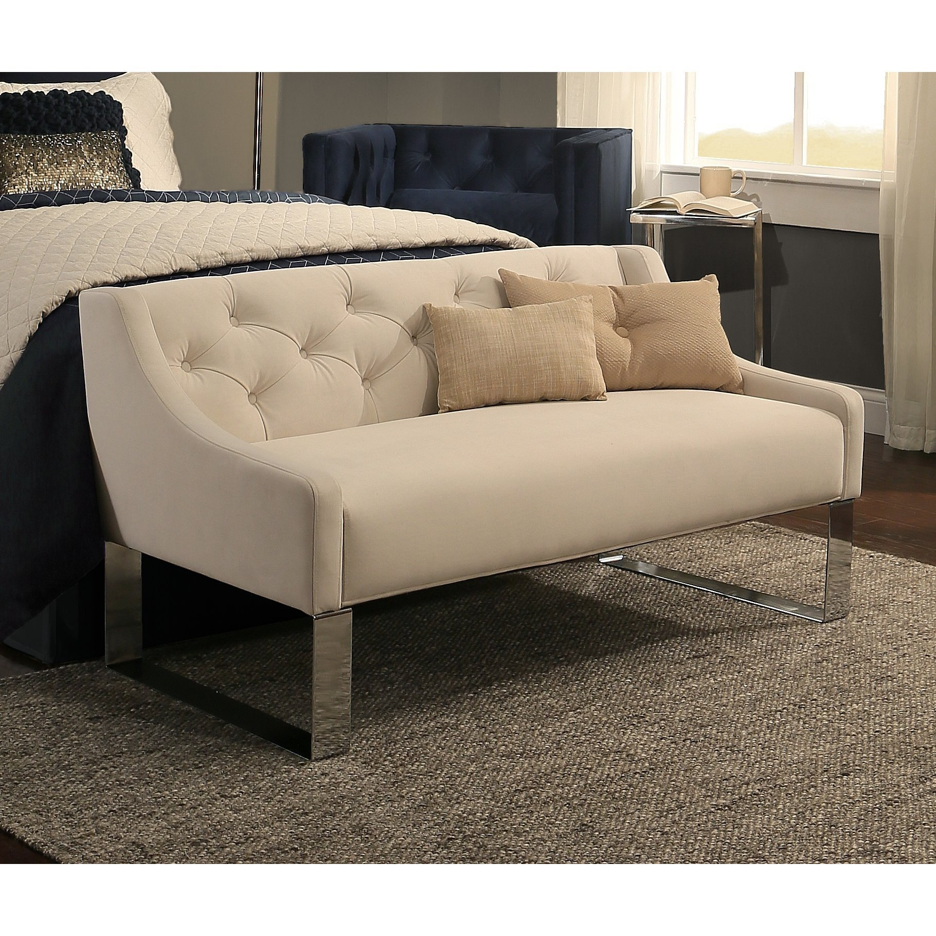 Best Republicdesignhouse Upholstered Bedroom Bench Reviews Wayfair With Pictures