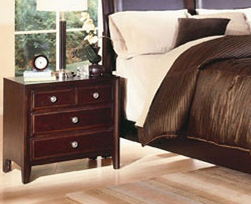 Best Claret Nightstand Furniture 4 Less Dallas With Pictures