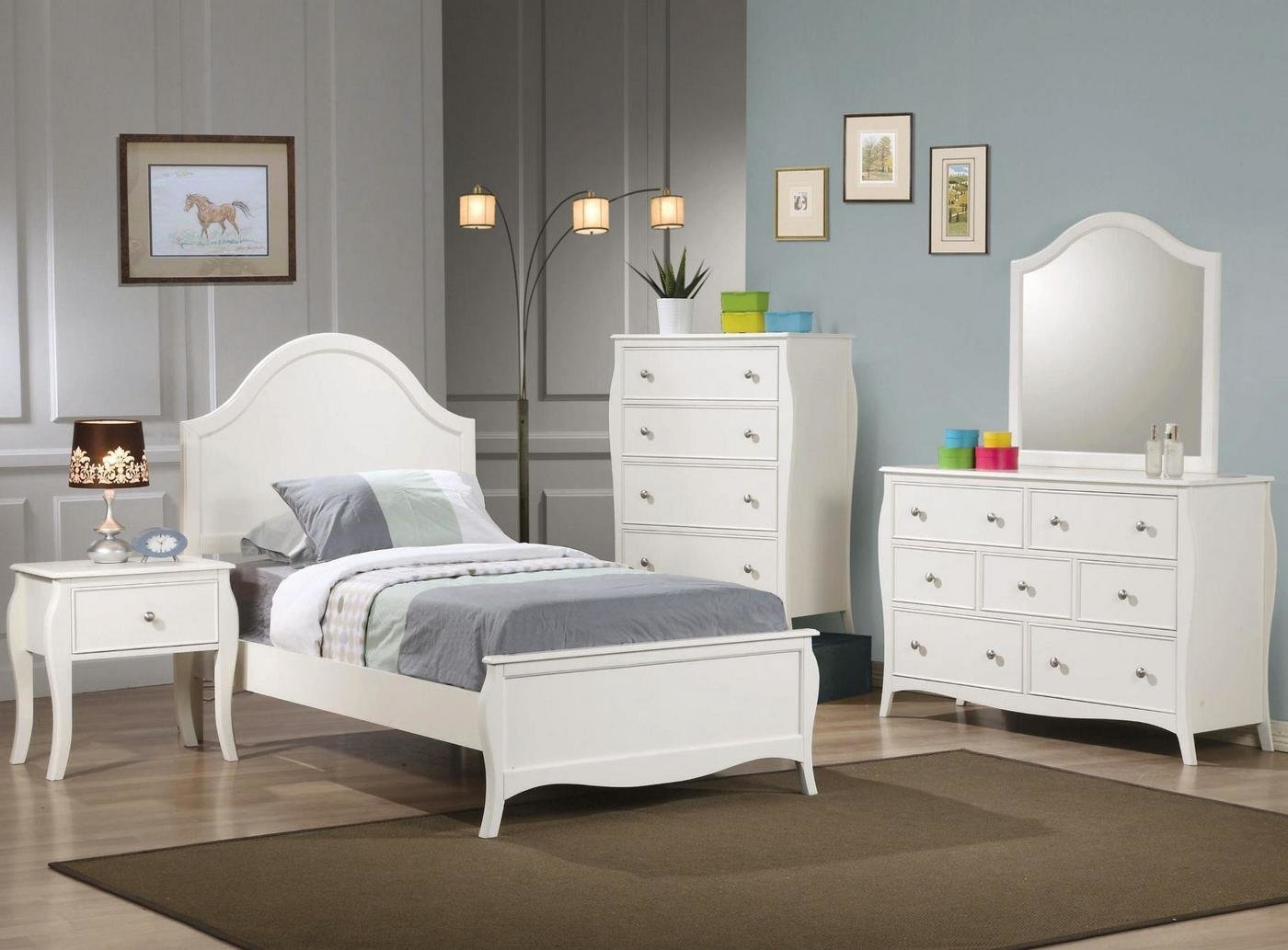 Best Dominique White Finish Twin Youth Panel Bedroom Set With Pictures