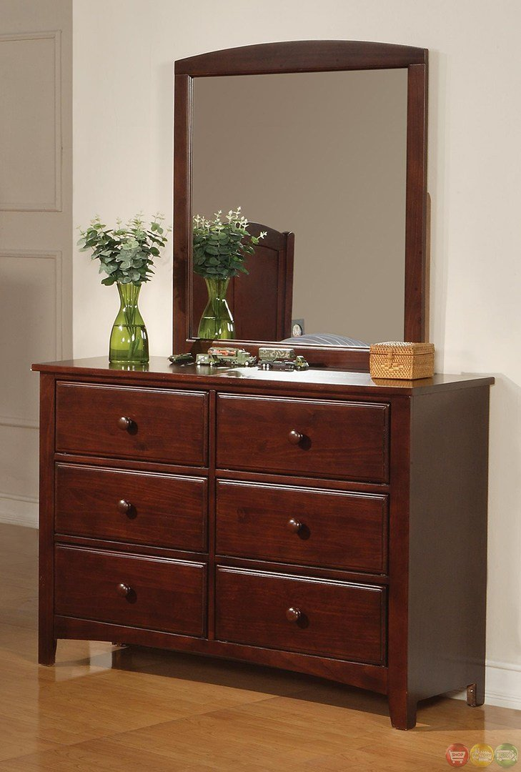 Best Parker Brown Cherry Finish Twin Panel Bedroom Furniture Group With Pictures