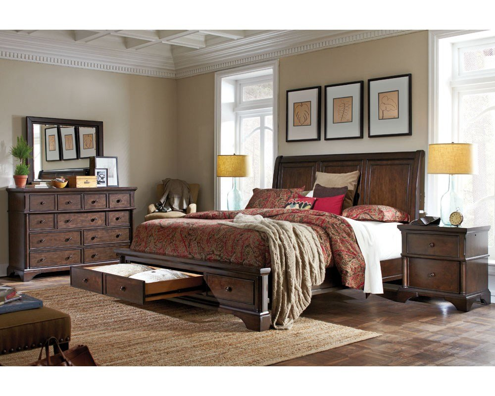 Best Aspenhome Bedroom Set W Sleigh Storage Bed Bancroft Asi08 With Pictures