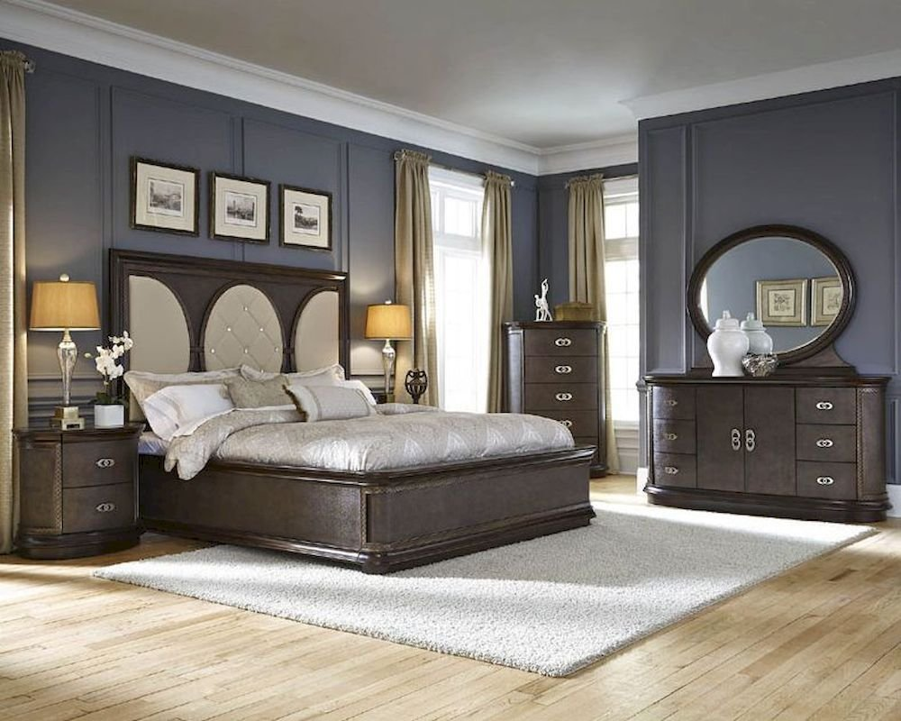 Best Najarian Bedroom Set W Panel Bed Obsessions Na Ob3Set With Pictures