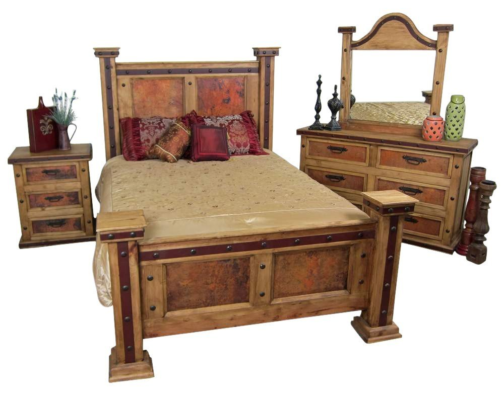 Best Pounded Copper Rustic Bedroom Set Mexican Rustic With Pictures