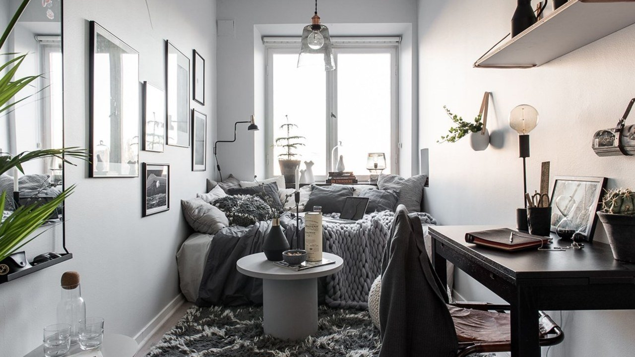 Best Small Bedroom Decorating Ideas For When Your Bed Takes Up With Pictures
