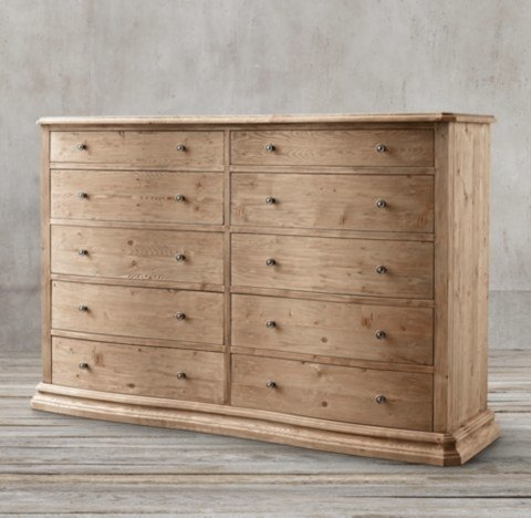 Best Serpentine Salvaged 10 Drawer Large Dresser With Pictures
