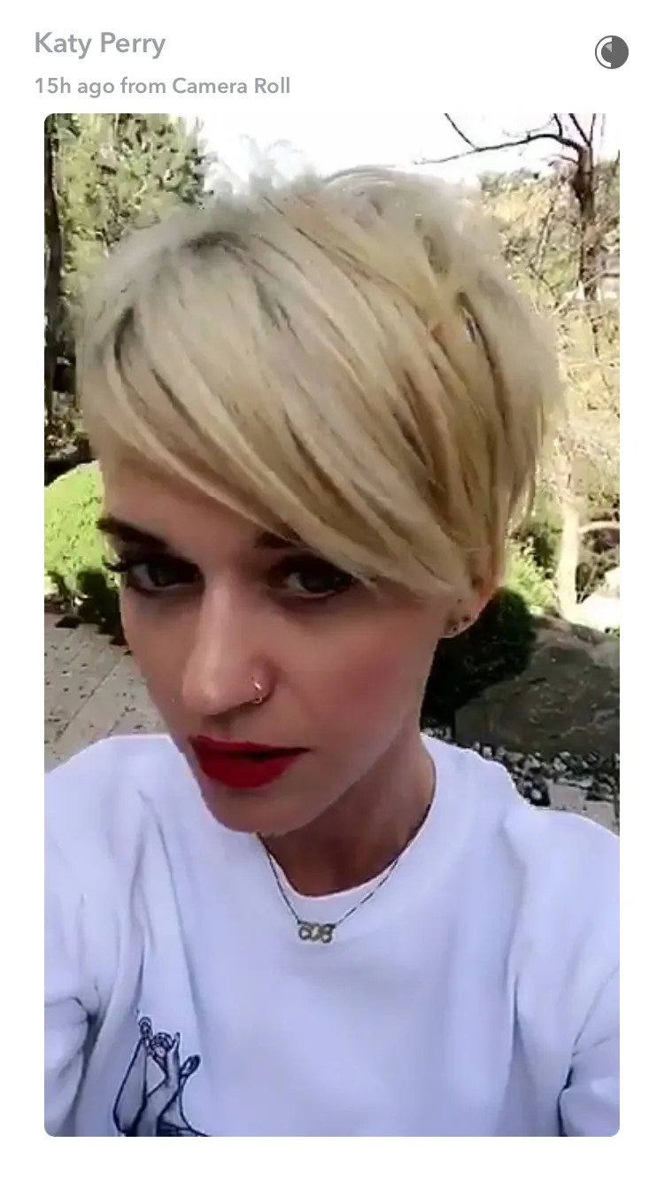 Free Katy Perry Now Has An Insanely Cool Undercut Pixie Haircut Wallpaper