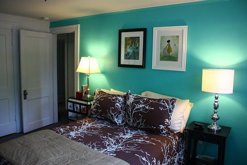 Best Tiffany Blue Paint Bedroom Makeover Popsugar Home With Pictures