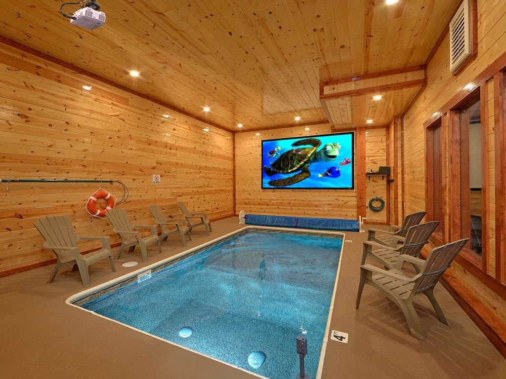 Best Brand New Luxury Cabin With Private Indoor Pool And Theater Pigeon Forge With Pictures