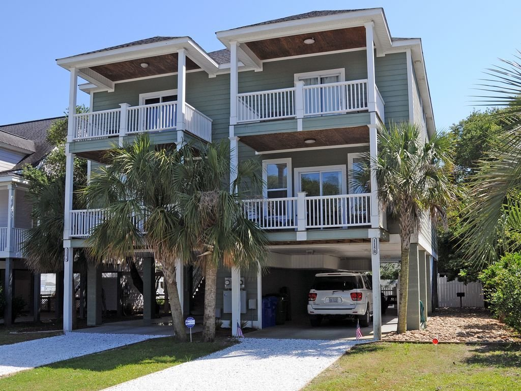 Best 4 Bedroom 4 5 Bath Beach House Private Pool Steps From Beach Surfside Beach With Pictures