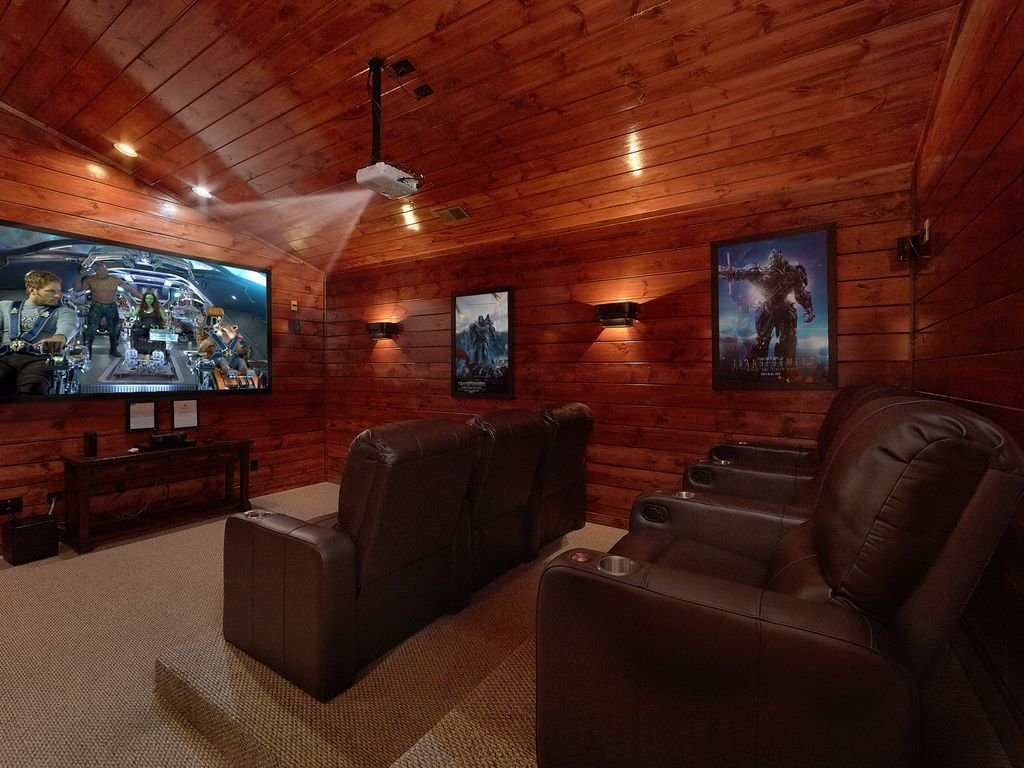 Best 5 Bedroom Gatlinburg Cabin Rental With Home Theater Room With Pictures