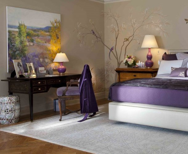Best Purple Bedroom Decor Ideas With Grey Wall And White Accent With Pictures
