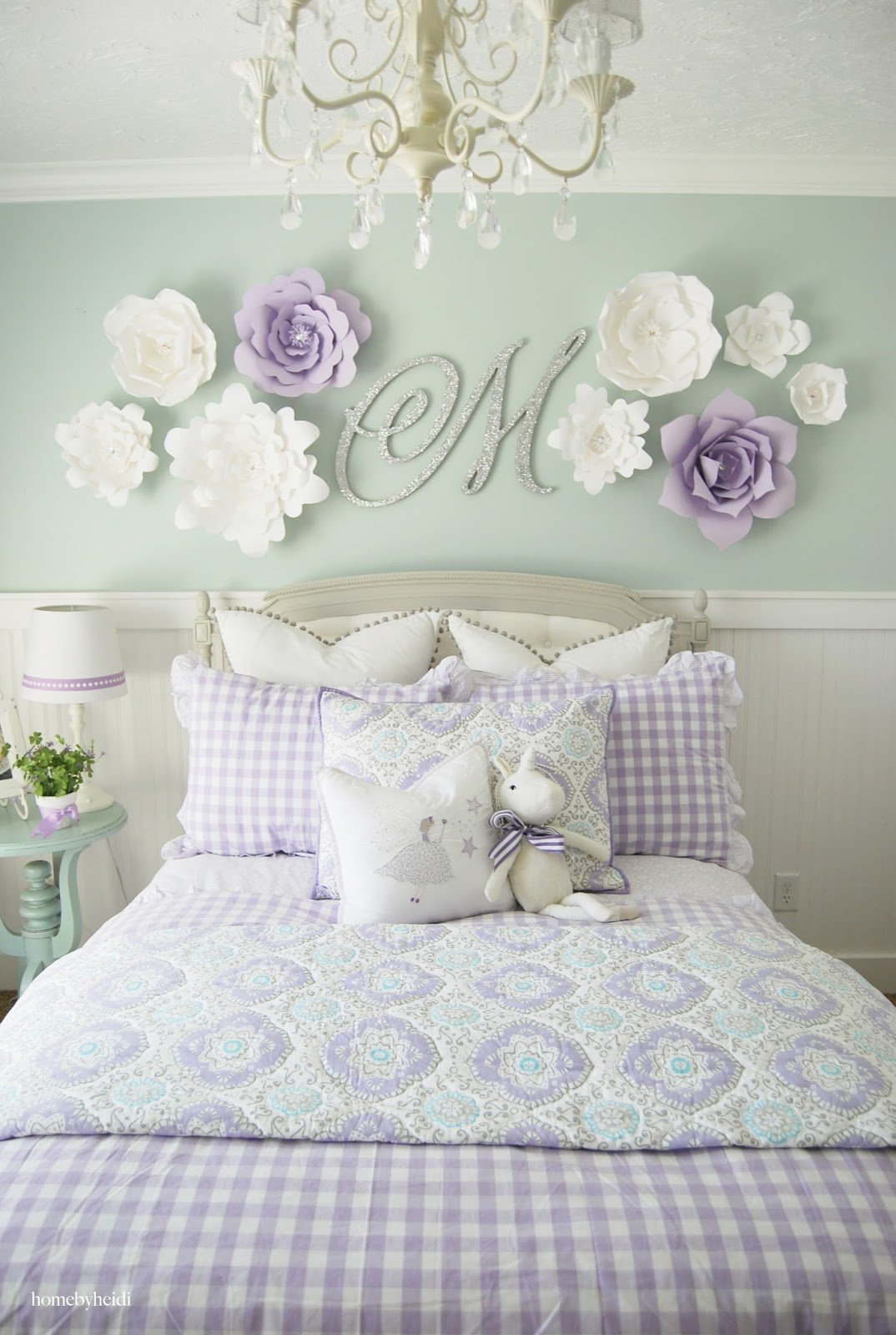Best Home By Heidi Purple Turquoise Little Girls Room With Pictures