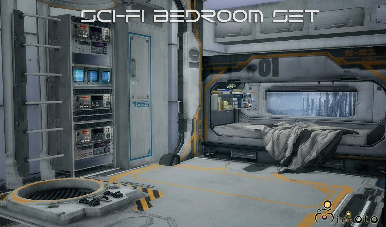 Best My Sims 4 Blog Ts2 Sci Fi Bedroom Set Conversion By Mimoto With Pictures