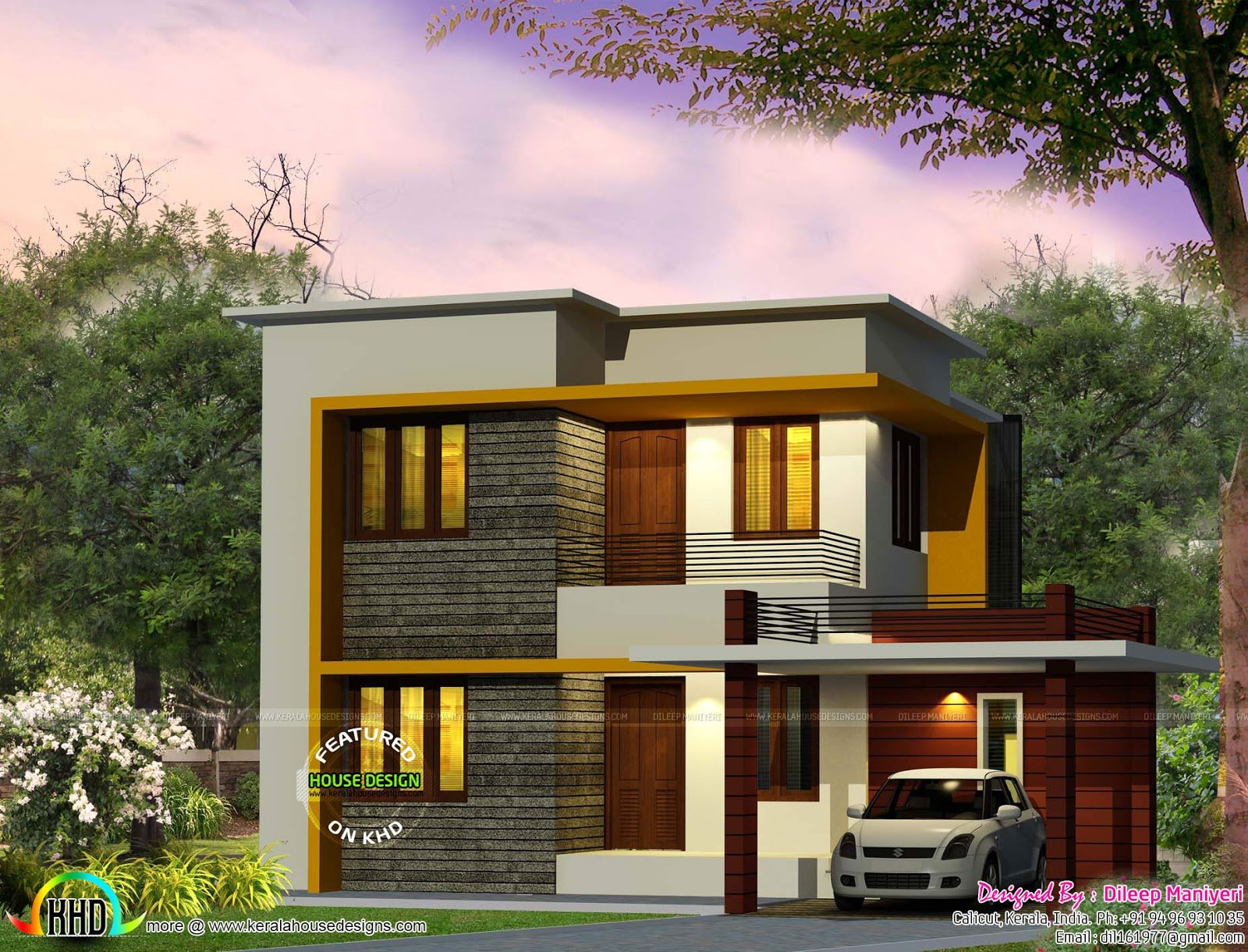 Best Cute 4 Bedroom Modern House 1670 Sq Ft Kerala Home With Pictures