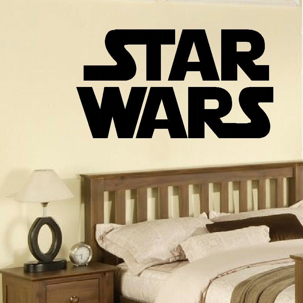 Best Star Wars Bedroom Wall Sticker Solid Logo Decal Transfers With Pictures