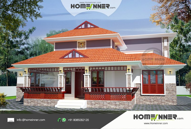 Best 1231 Sqft 3 Bhk Traditional Kerala Style Home Design With Pictures