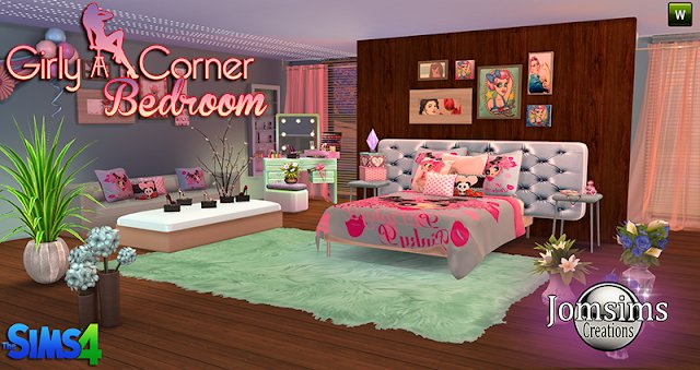 Best Sims 4 Cc S The Best Girly Corner Bedroom Set By Jomsims With Pictures