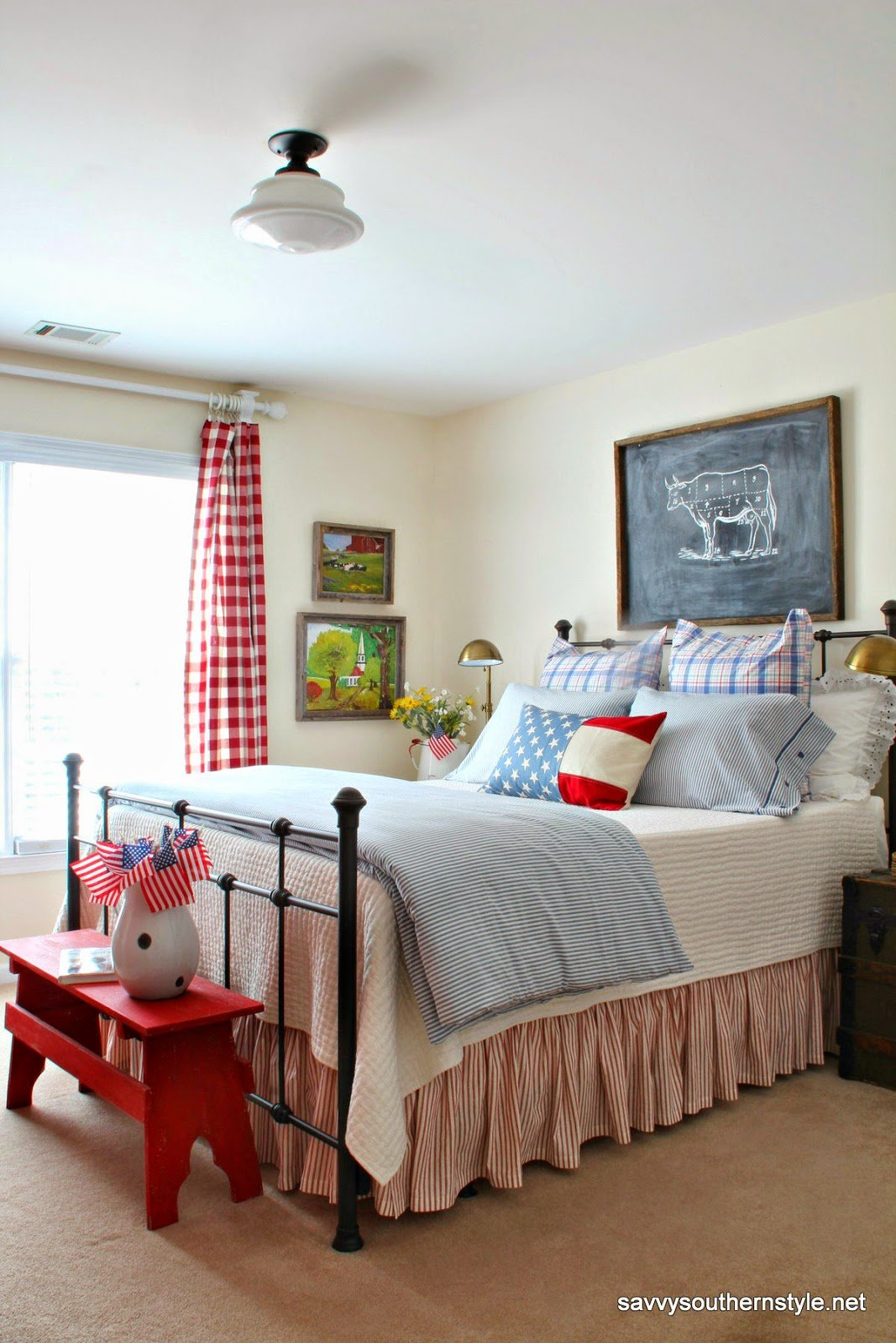 Best Savvy Southern Style Remembering Red White And Blue Decor In My Favorite Rooms With Pictures