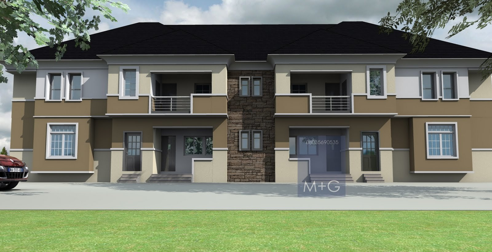 Best Contemporary Nigerian Residential Architecture 4 Units Of With Pictures
