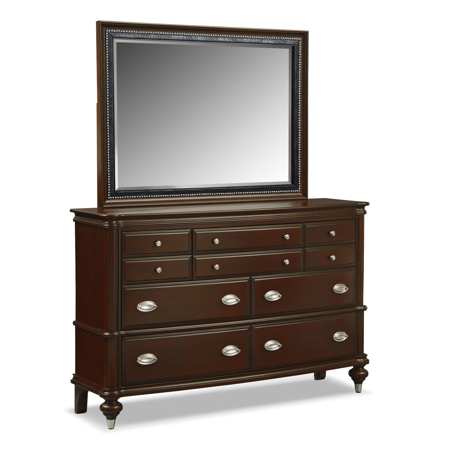 Best Esquire Dresser And Mirror American Signature Furniture With Pictures