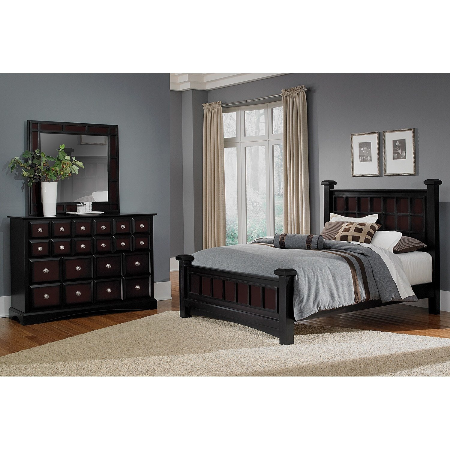 Best Winchester 5 Piece King Bedroom Set Black And Burnished With Pictures