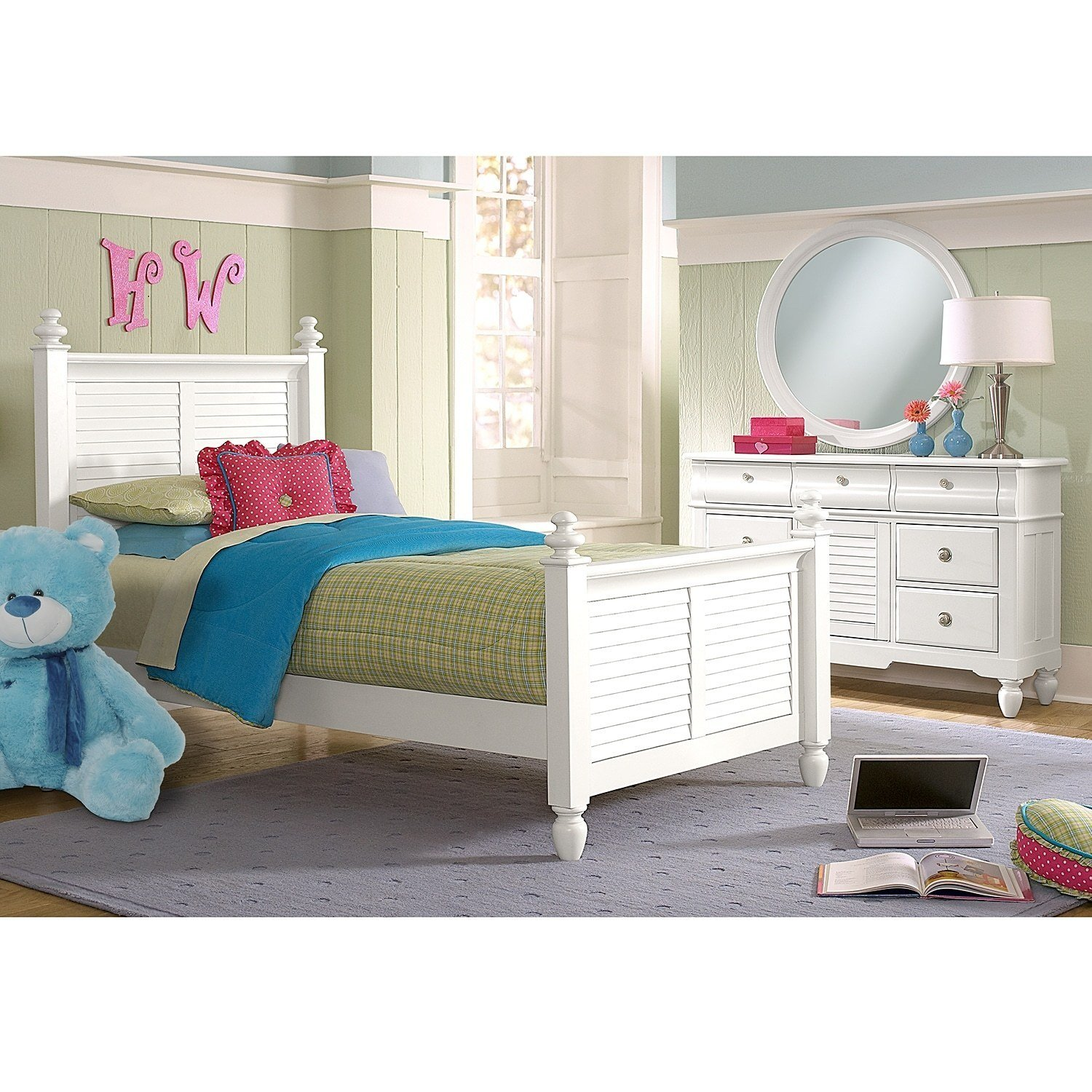 Best Seaside 6 Piece Full Bedroom Set With Trundle White American Signature Furniture With Pictures