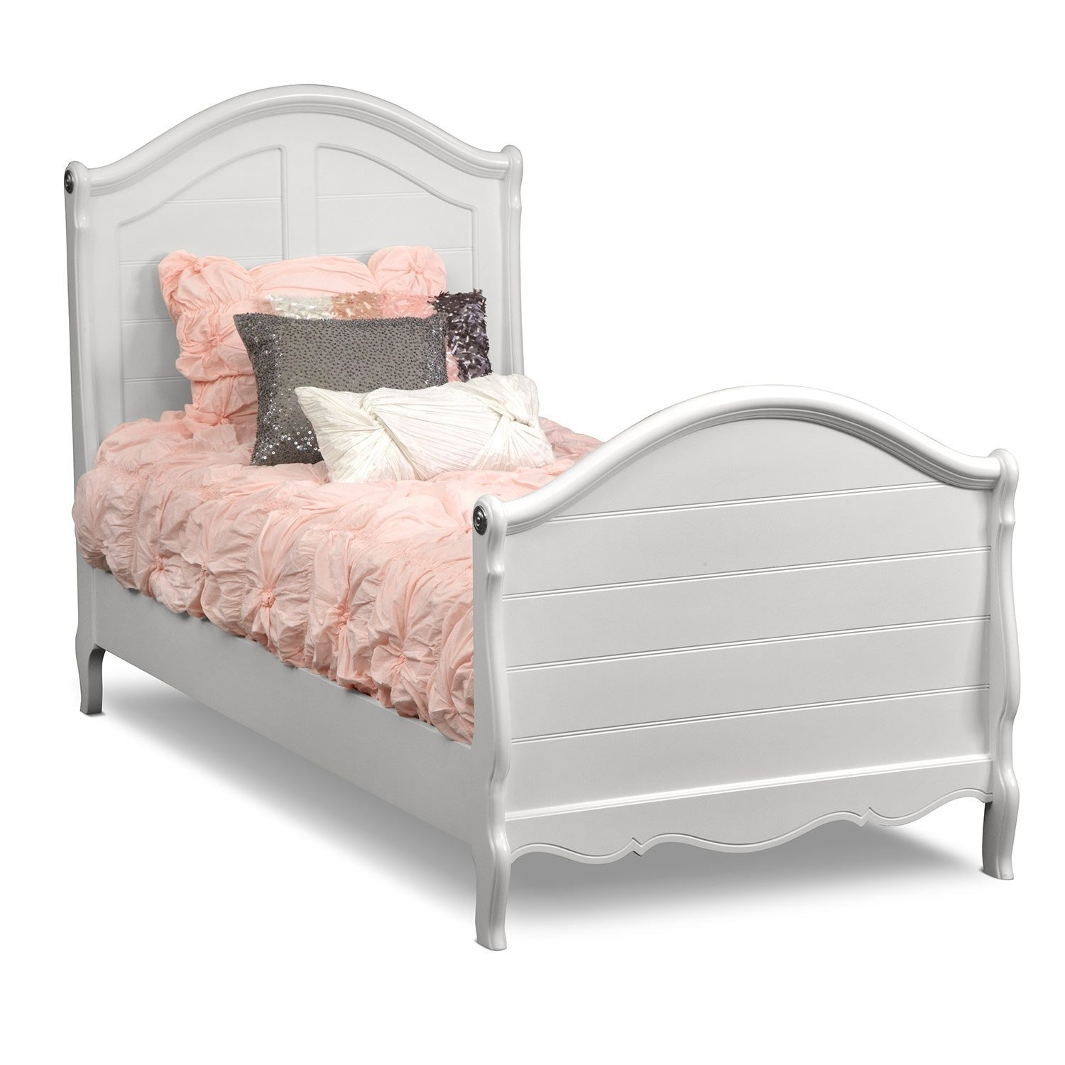 Best Carly Twin Bed White Value City Furniture With Pictures