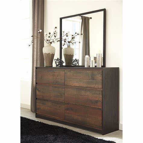 Best Modern Rustic Dresser Bedroom Mirror By Signature Design With Pictures